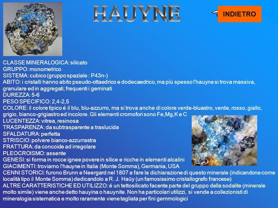 HAUYNE INDIETRO.