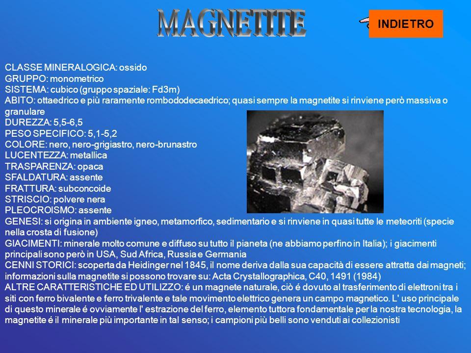 MAGNETITE INDIETRO.