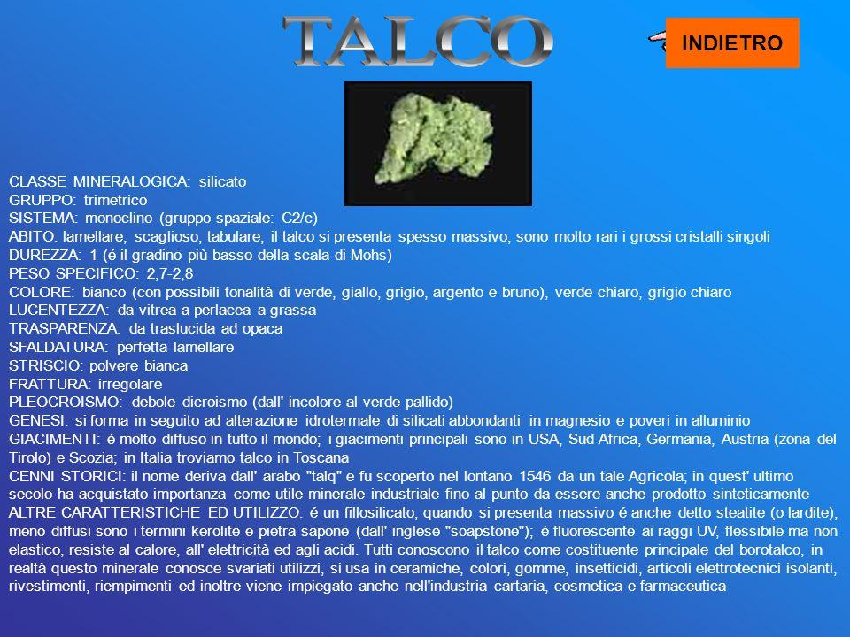 TALCO INDIETRO.