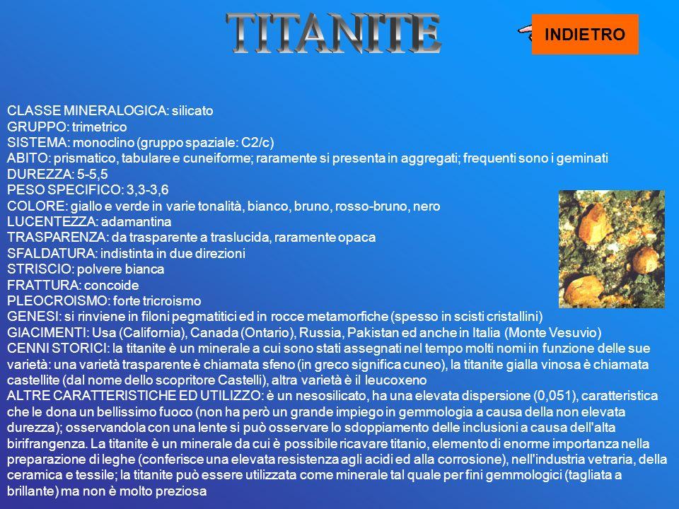 TITANITE INDIETRO.