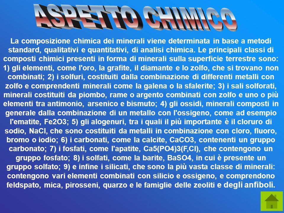 ASPETTO CHIMICO