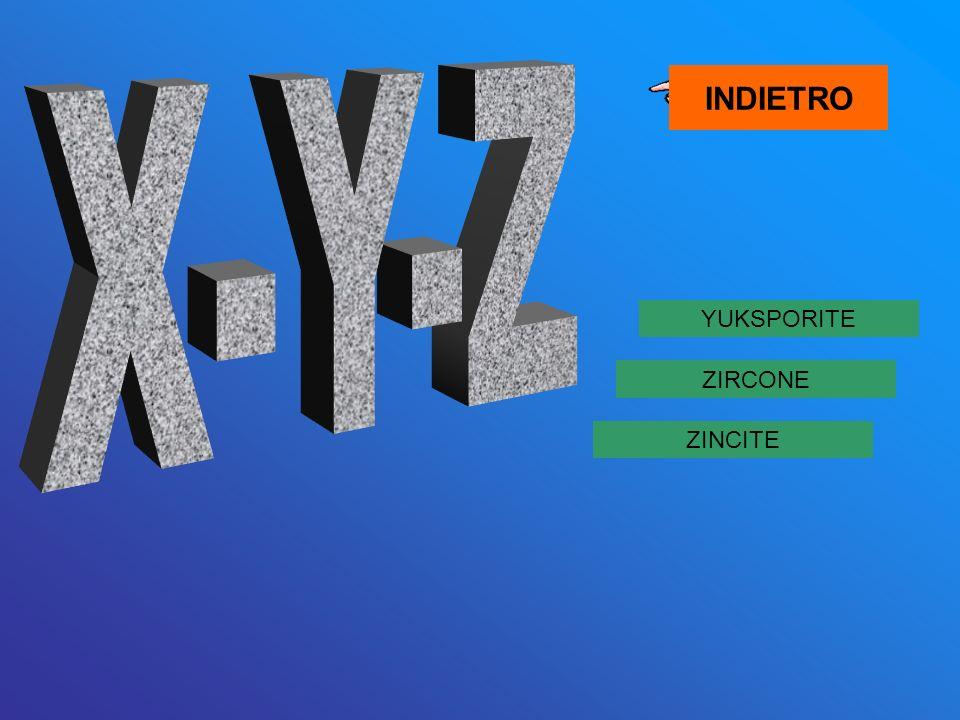 INDIETRO X-Y-Z YUKSPORITE ZIRCONE ZINCITE