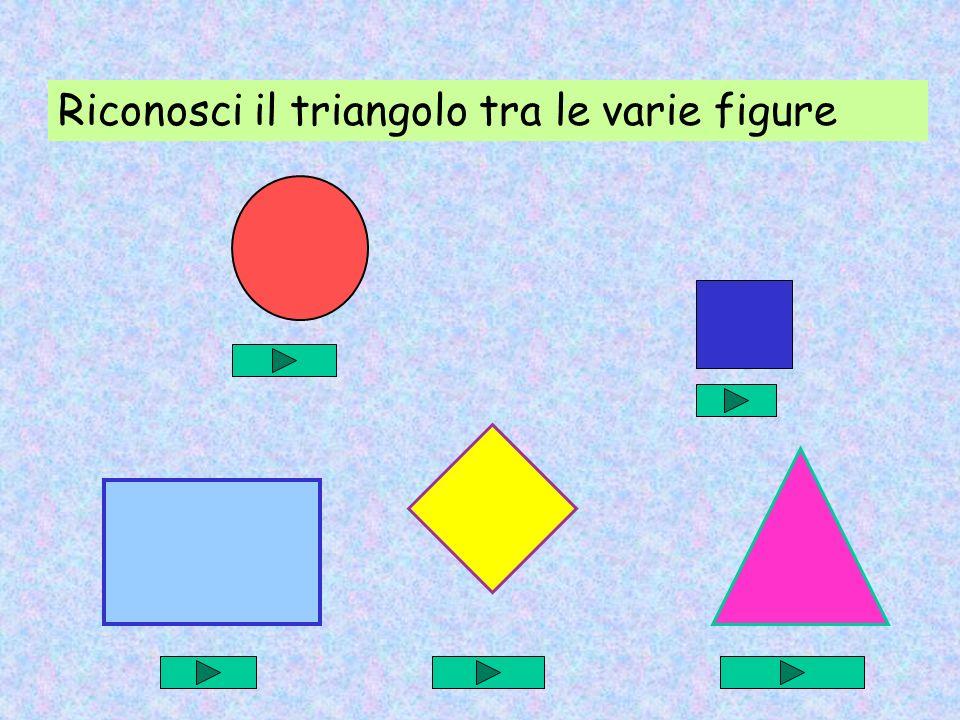 Riconosci il triangolo tra le varie figure