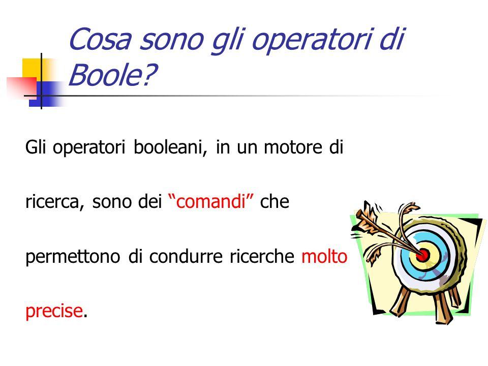 Cosa sono gli operatori di Boole