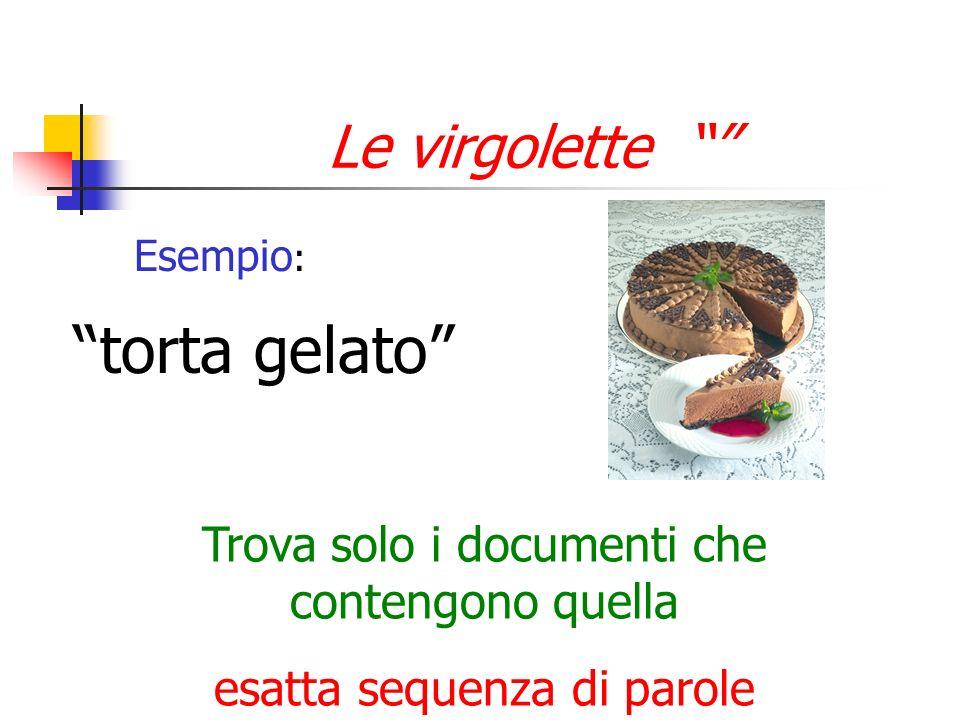 torta gelato Le virgolette