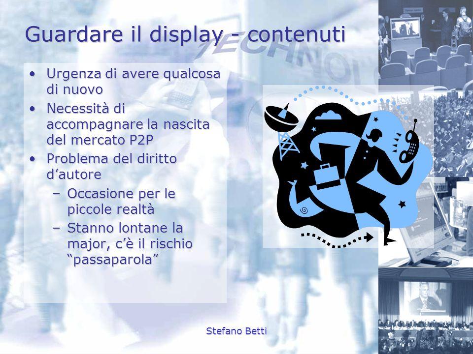 Guardare il display - contenuti