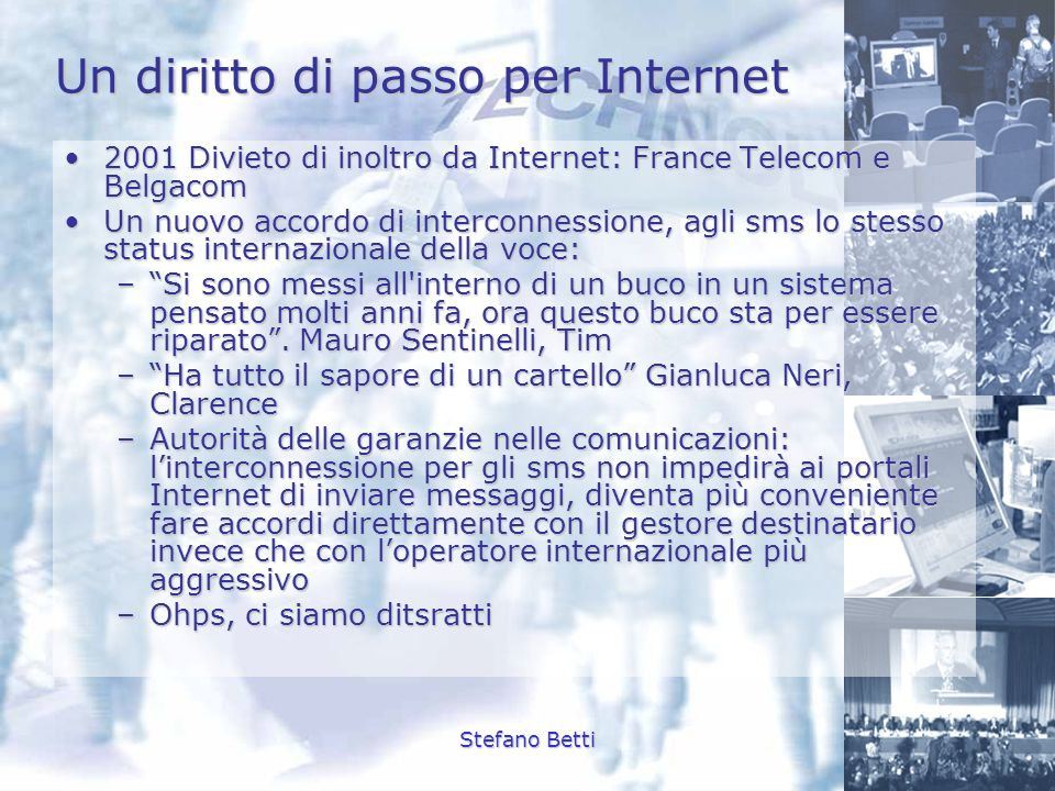 Un diritto di passo per Internet