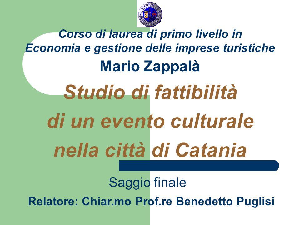 Relatore: Chiar.mo Prof.re Benedetto Puglisi