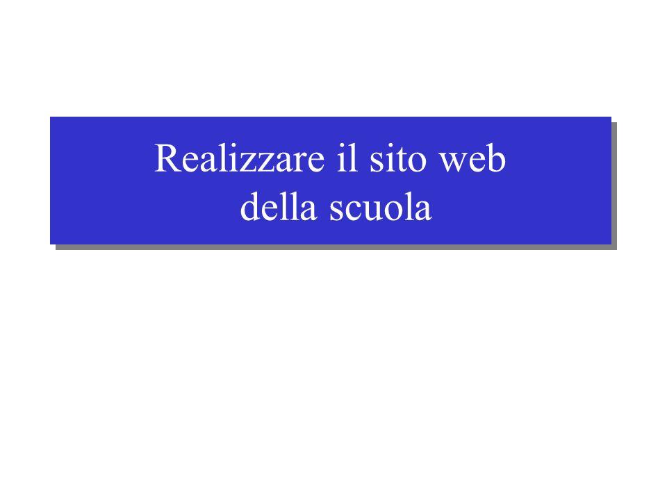 Realizzare il sito web della scuola