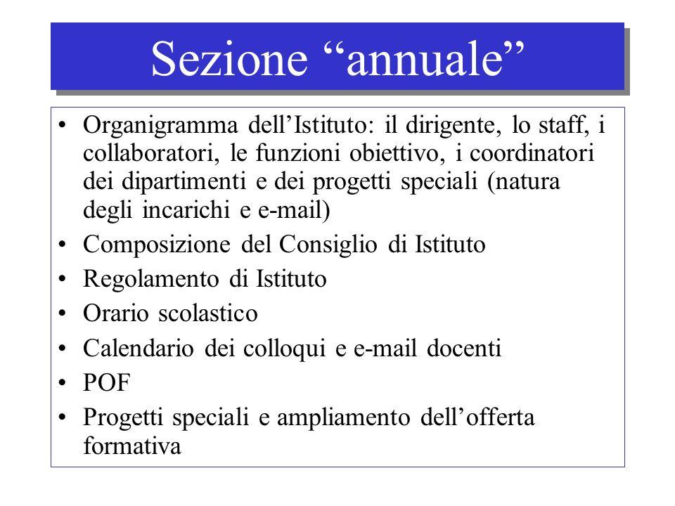 Sezione annuale