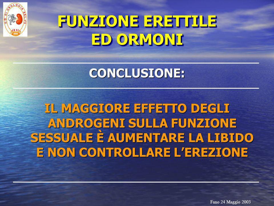 FUNZIONE ERETTILE ED ORMONI