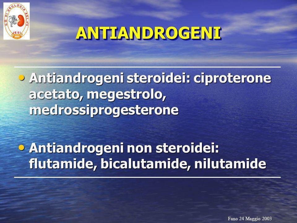 ANTIANDROGENI Antiandrogeni steroidei: ciproterone acetato, megestrolo, medrossiprogesterone.