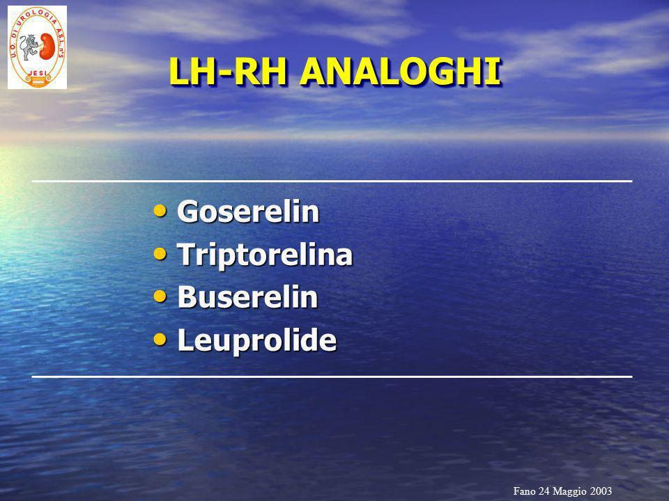 LH-RH ANALOGHI Goserelin Triptorelina Buserelin Leuprolide