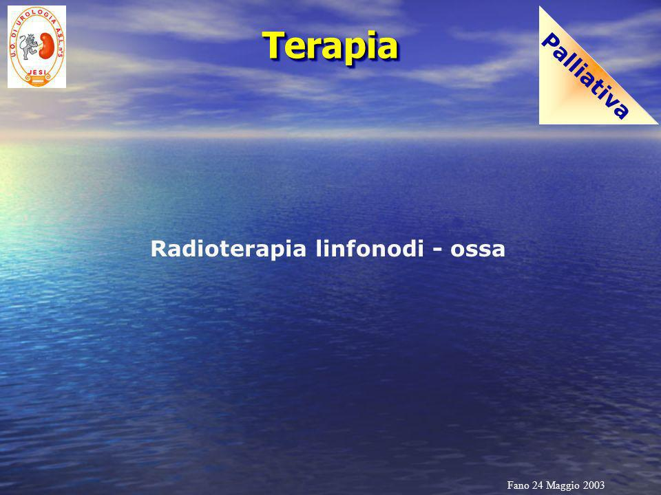 Palliativa Terapia Radioterapia linfonodi - ossa Fano 24 Maggio 2003