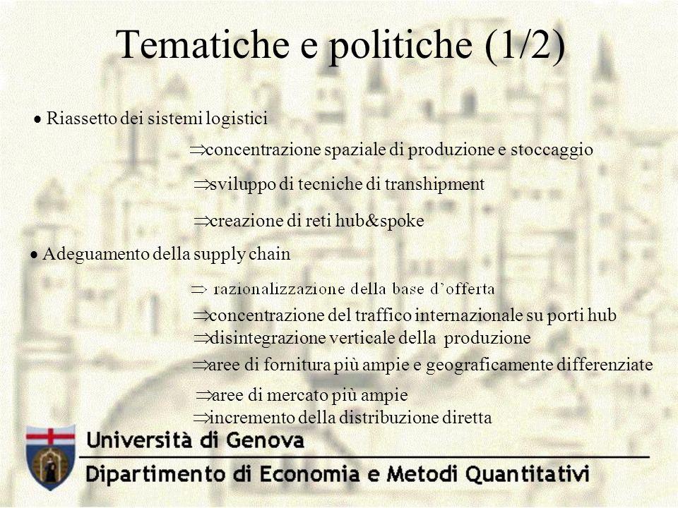 Tematiche e politiche (1/2)
