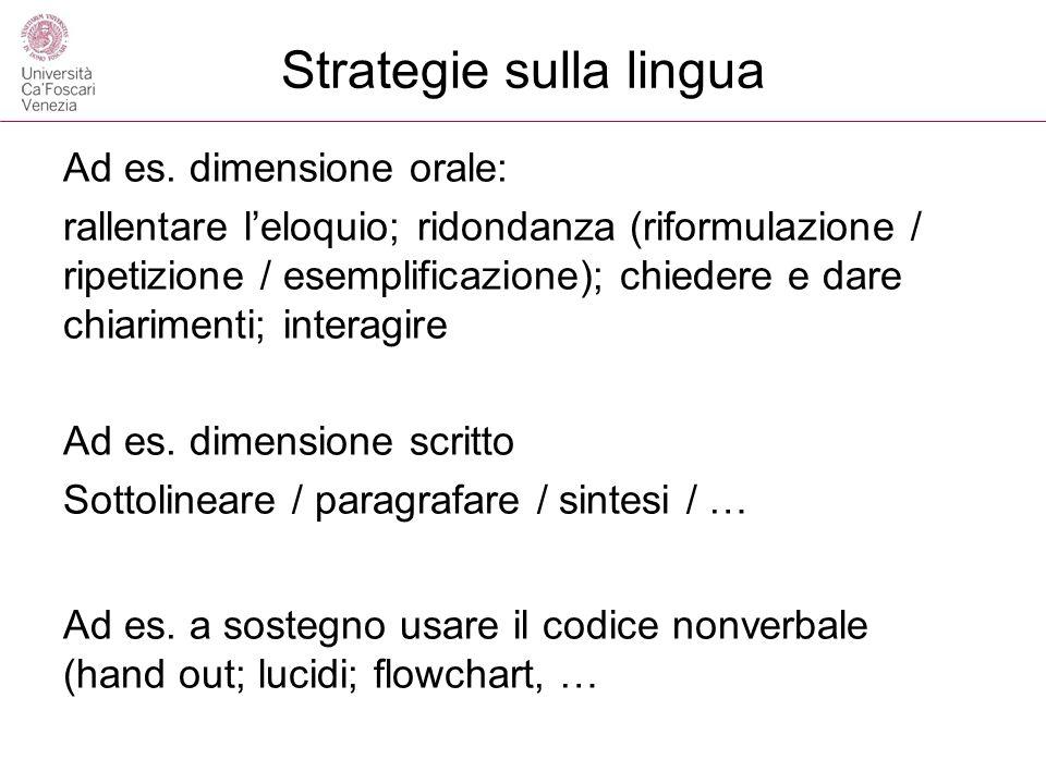 Strategie sulla lingua