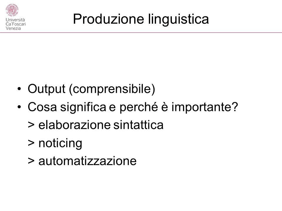 Produzione linguistica