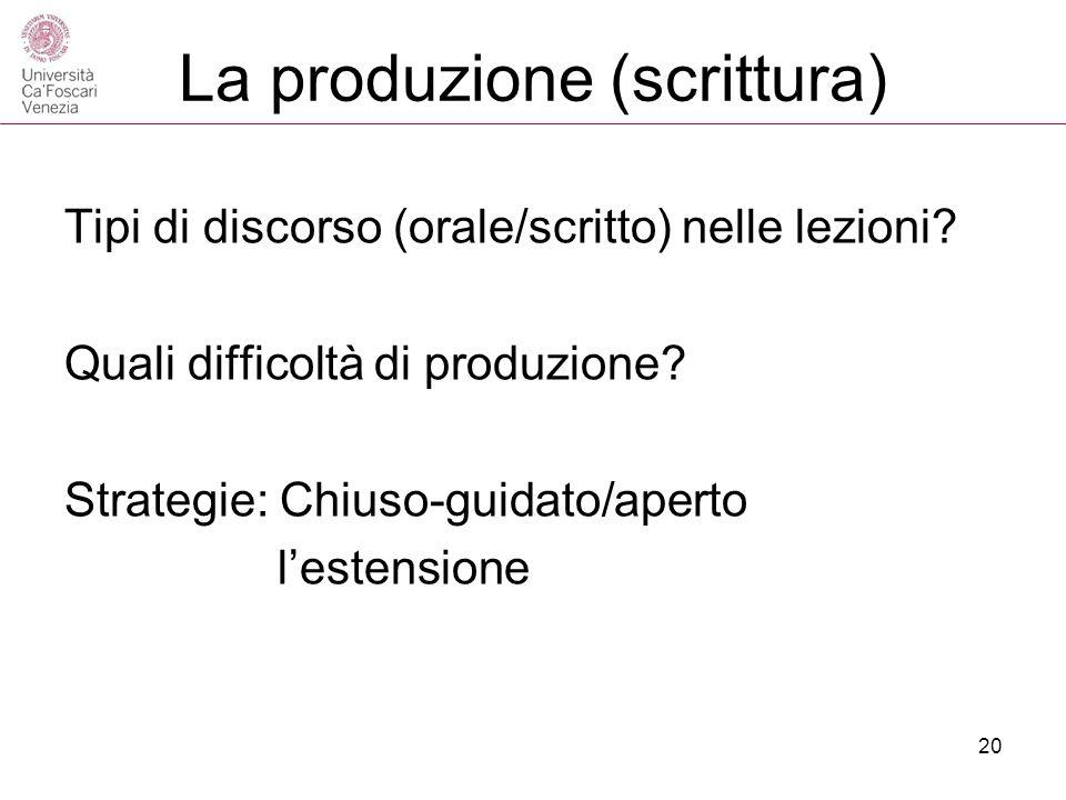 La produzione (scrittura)