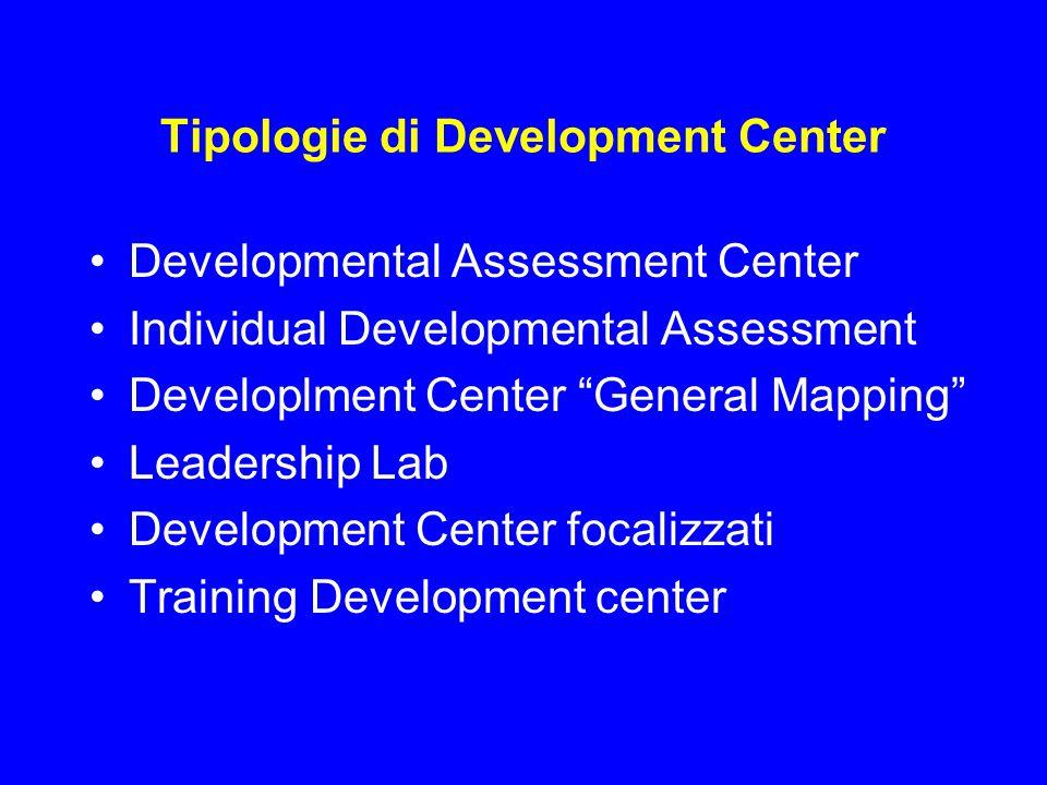 Tipologie di Development Center
