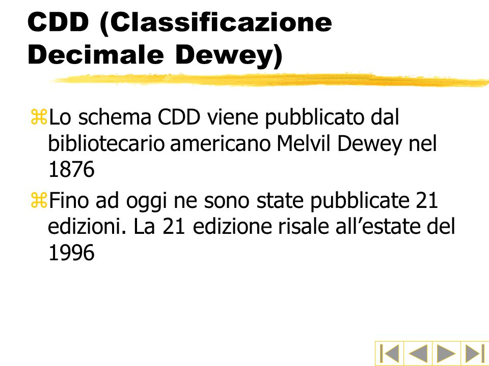 CDD (Classificazione Decimale Dewey)
