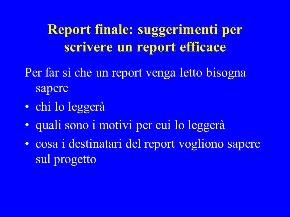 Report finale: suggerimenti per scrivere un report efficace