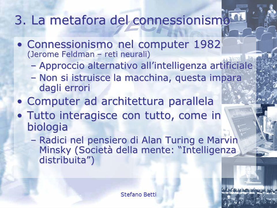 3. La metafora del connessionismo