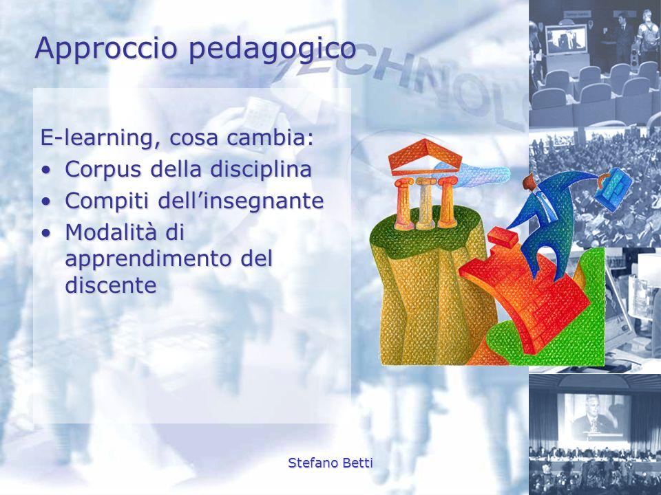 Approccio pedagogico E-learning, cosa cambia: Corpus della disciplina