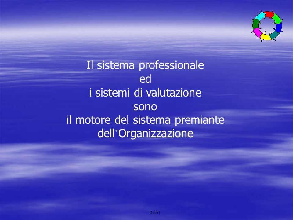 Il sistema professionale ed i sistemi di valutazione sono