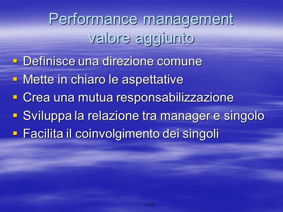 Performance management valore aggiunto