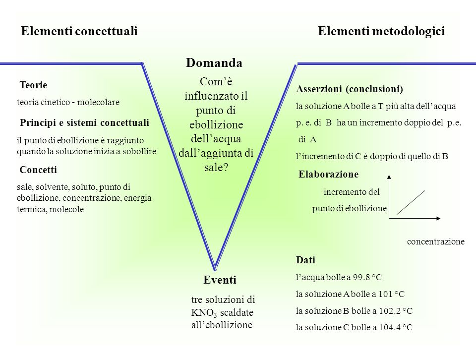 Elementi concettuali Elementi metodologici