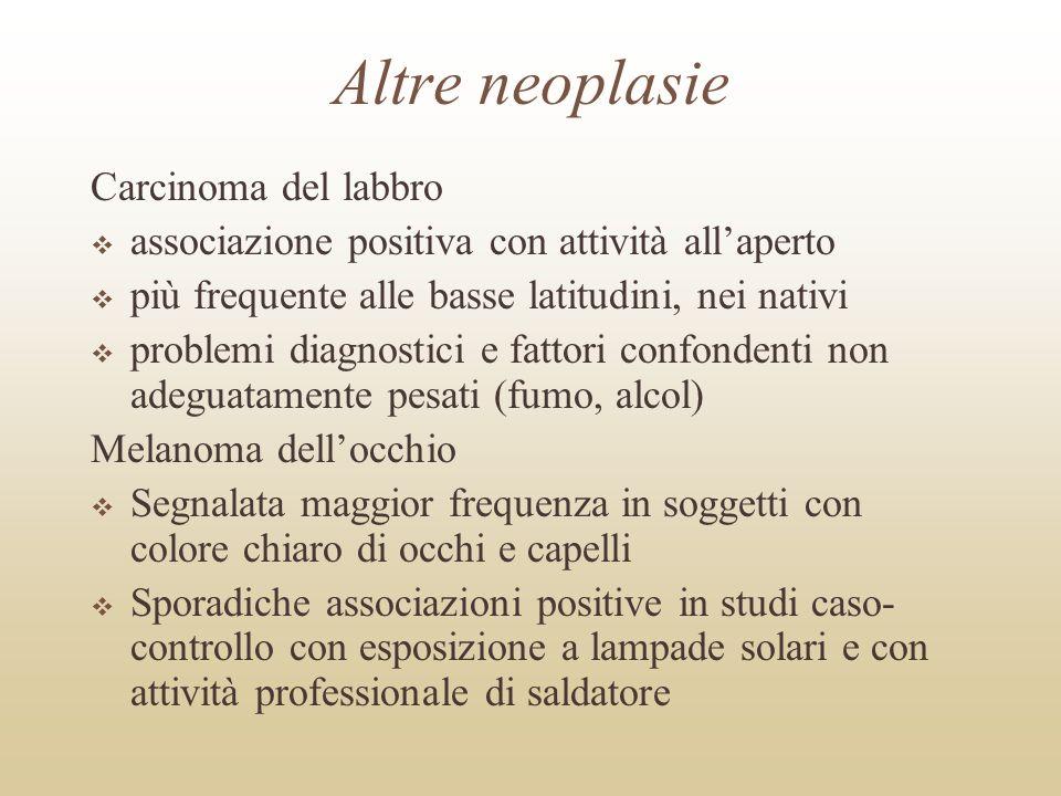 Altre neoplasie Carcinoma del labbro