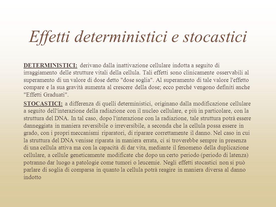 Effetti deterministici e stocastici