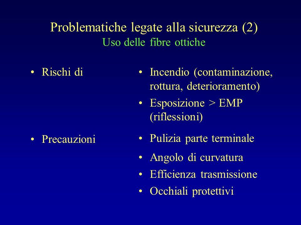 Problematiche legate alla sicurezza (2) Uso delle fibre ottiche