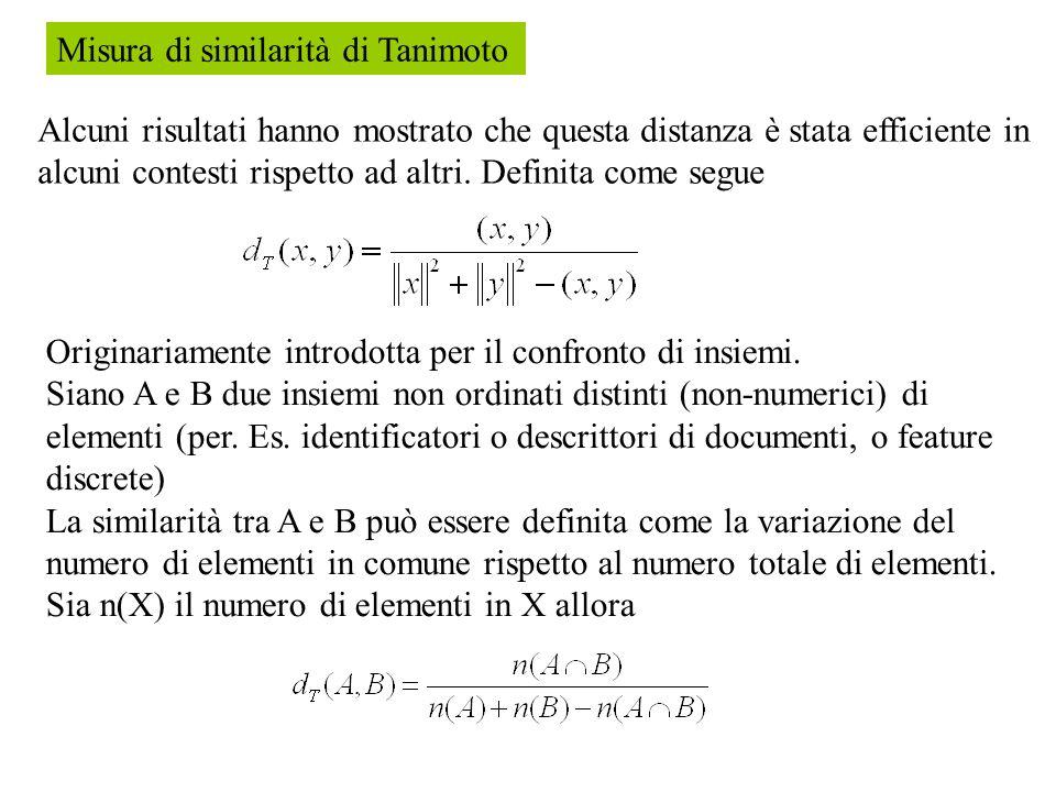 Misura di similarità di Tanimoto