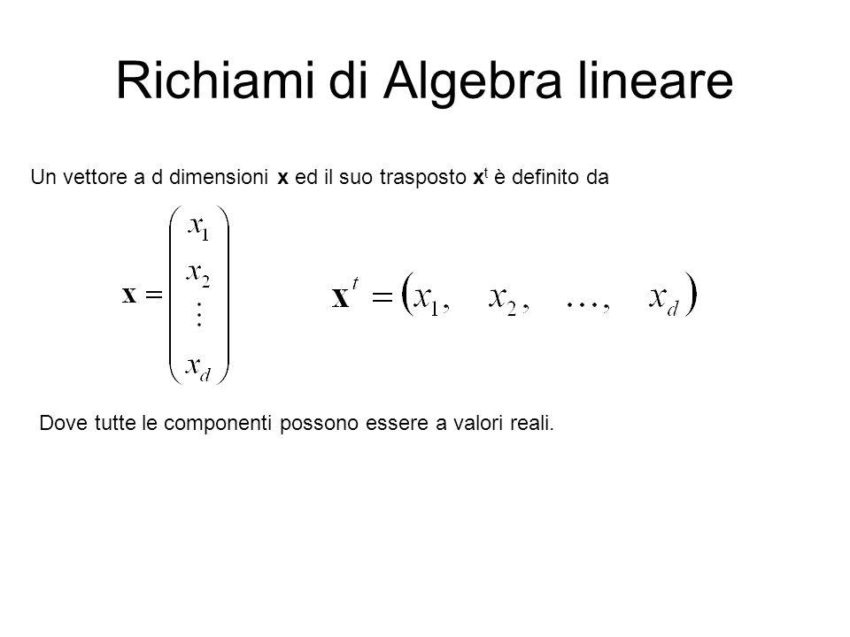 Richiami di Algebra lineare