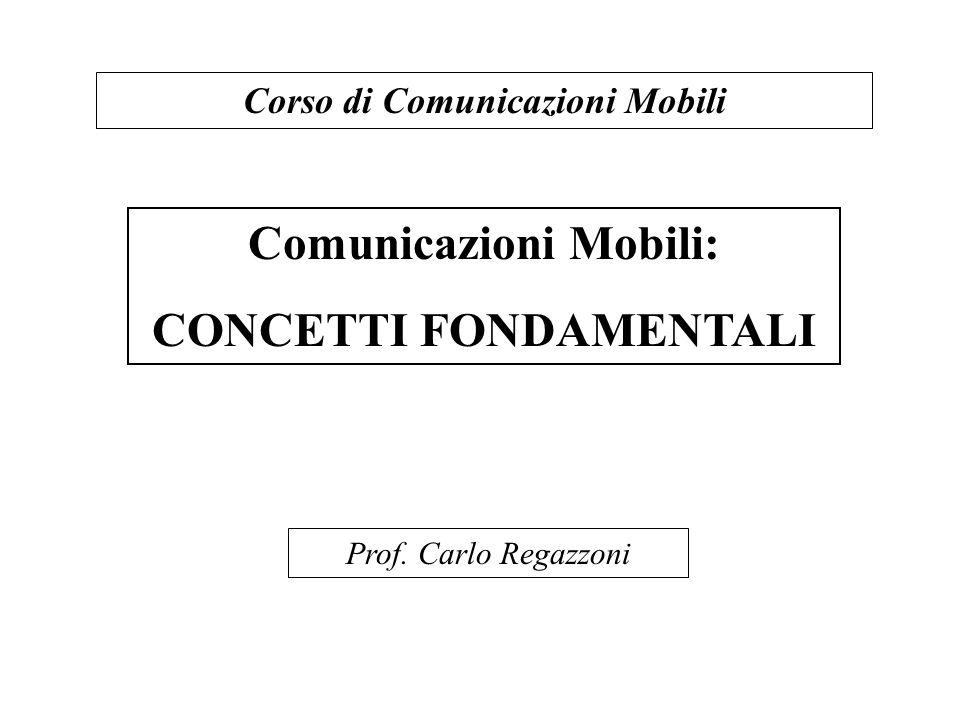 Comunicazioni Mobili: CONCETTI FONDAMENTALI
