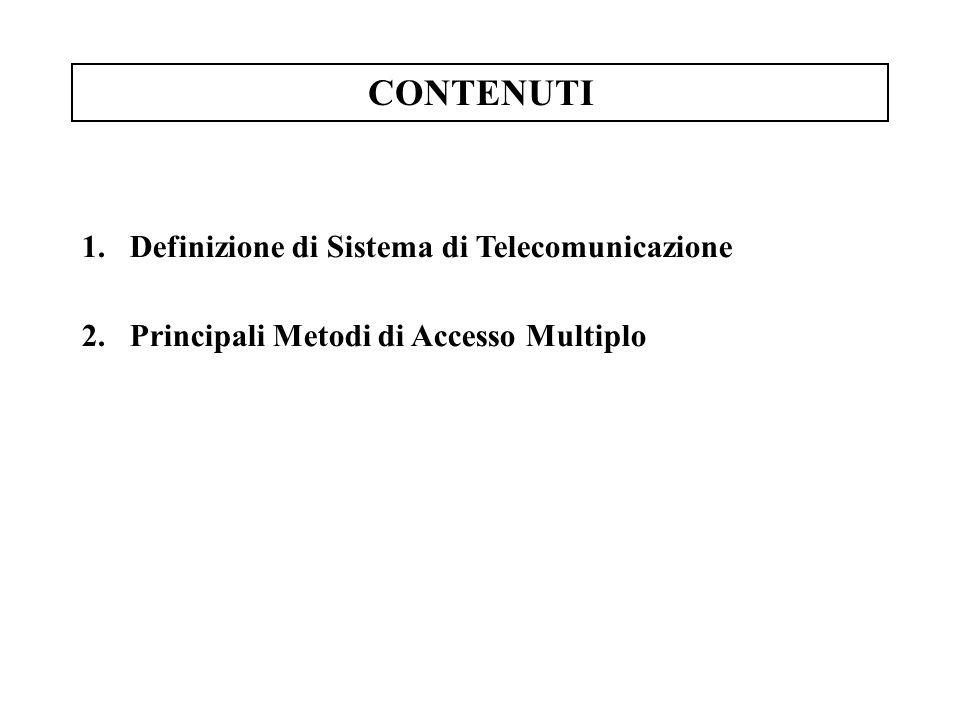 CONTENUTI Definizione di Sistema di Telecomunicazione