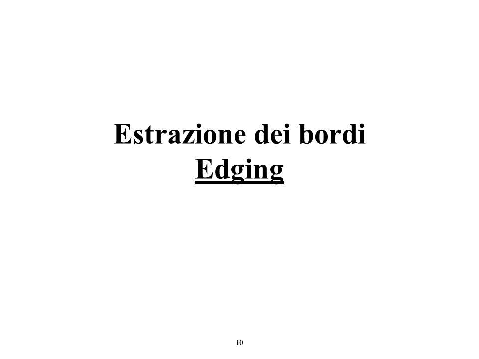 Estrazione dei bordi Edging
