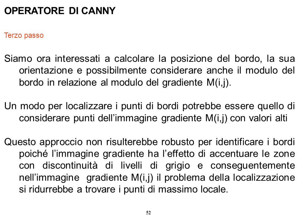 OPERATORE DI CANNY Terzo passo.