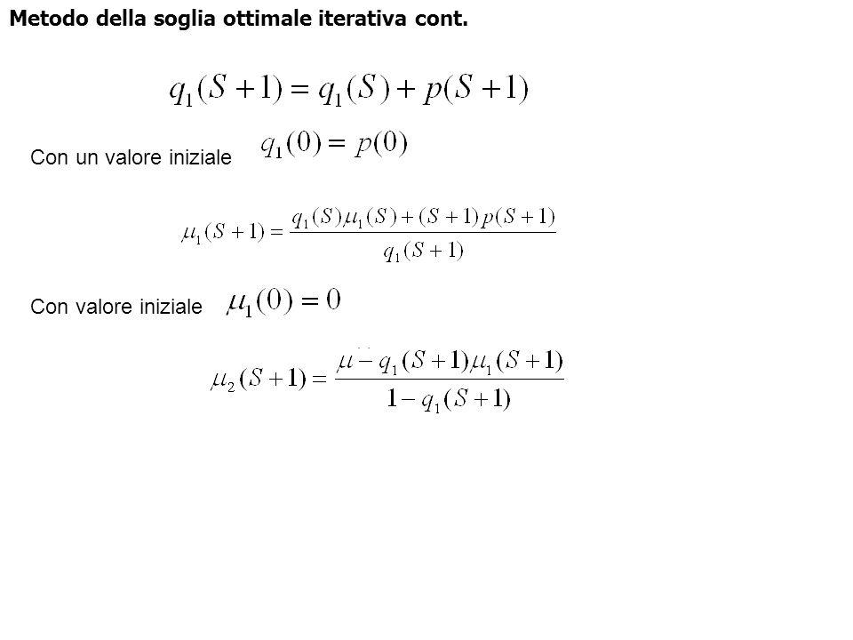 Metodo della soglia ottimale iterativa cont.