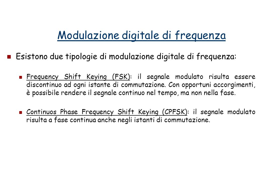 Modulazione digitale di frequenza
