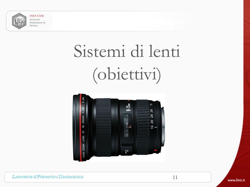 Sistemi di lenti (obiettivi)