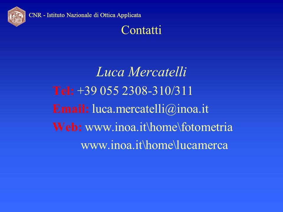 Luca Mercatelli Contatti Tel: +39 055 2308-310/311