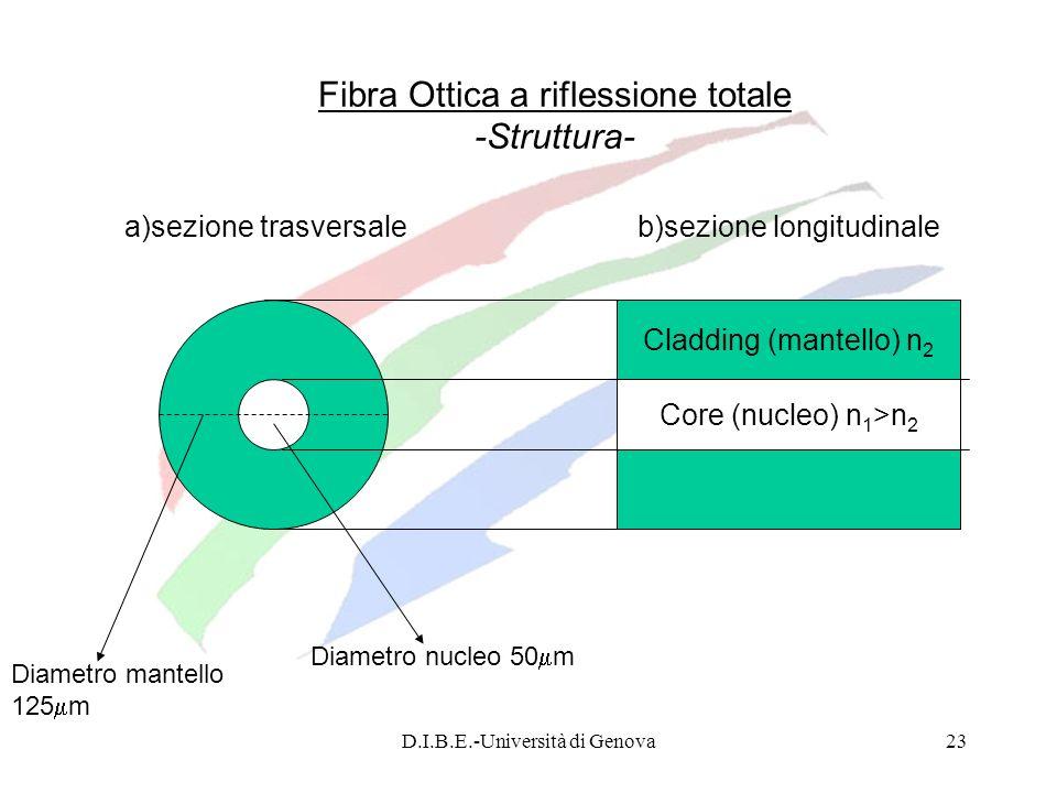 Fibra Ottica a riflessione totale -Struttura-