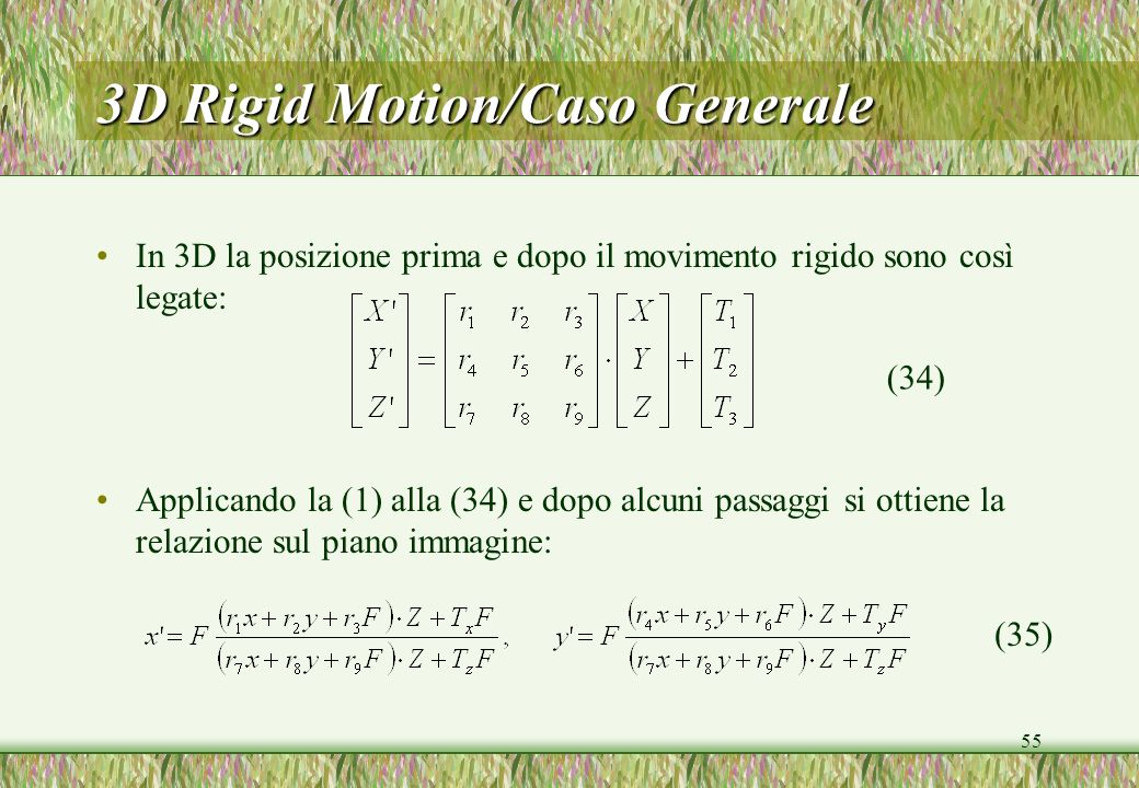 3D Rigid Motion/Caso Generale