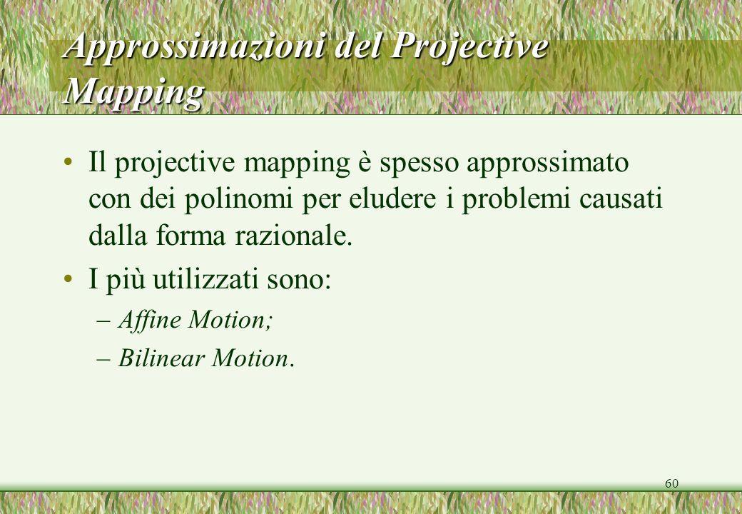 Approssimazioni del Projective Mapping