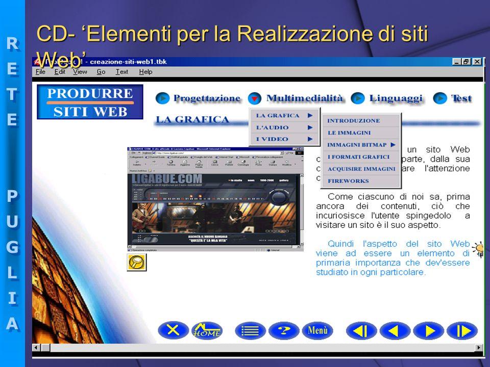 CD- 'Elementi per la Realizzazione di siti Web'