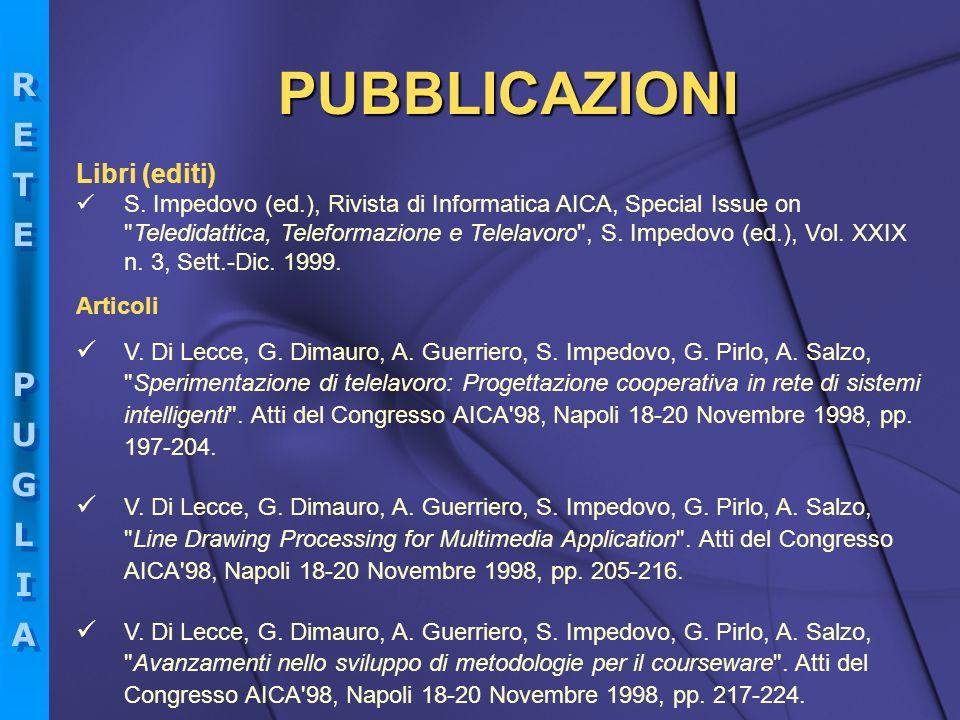 PUBBLICAZIONI Libri (editi)
