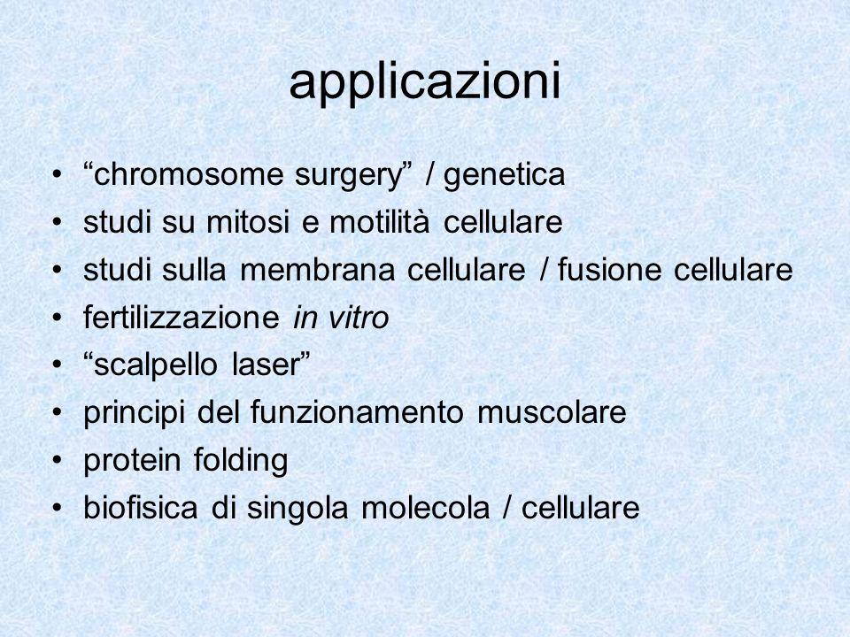 applicazioni chromosome surgery / genetica