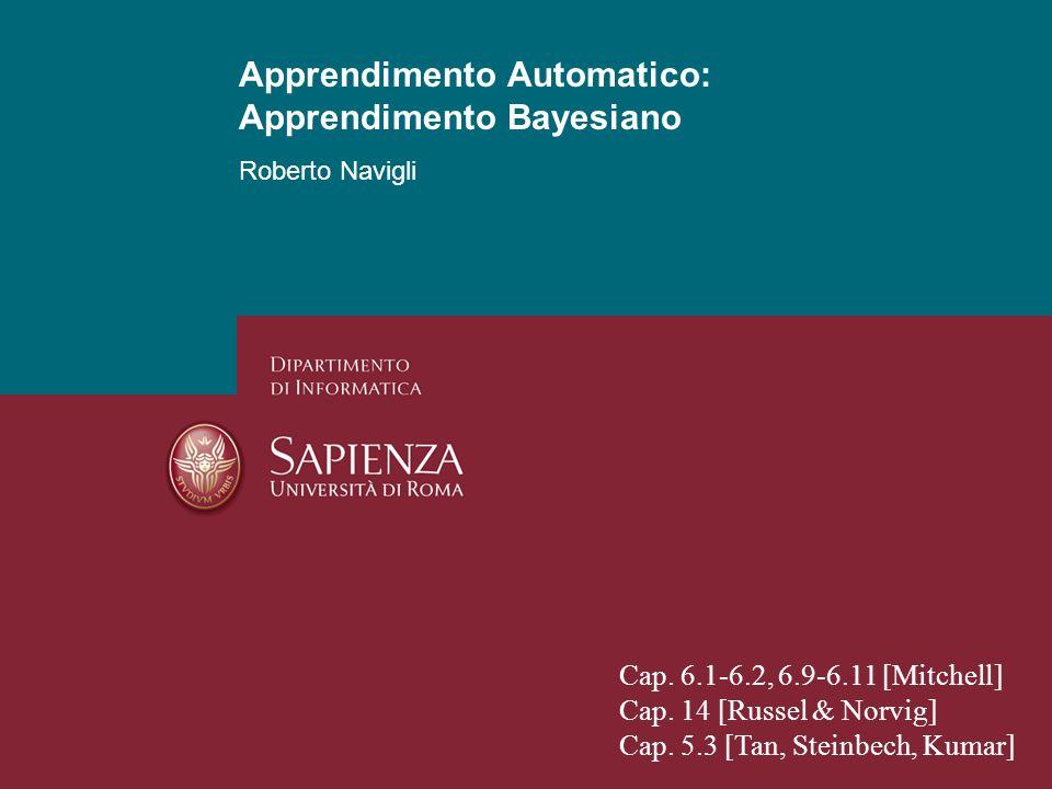 Apprendimento Automatico: Apprendimento Bayesiano